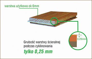 Budowa deski dwuwarstwowej firmy FinishParkiet
